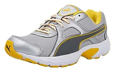 Puma Men's Silver-Shadow-Yellow Running Shoes-10 UK (44.5 EU) (37086402)