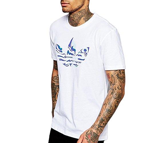 adidas Herren T-Shirt Magic Camo Tee, Weiß, L, 4056559670511 (Gedruckt Ribbed Tank)