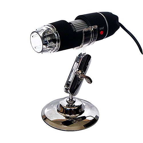 DLAND portatile 50x-500x Ingrandimento 8-LED USB Digital Microscope endoscopio con supporto per l'istruzione di controllo biologico