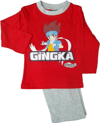 Beyblade Metal Fusion Gingka Schlafanzug rot