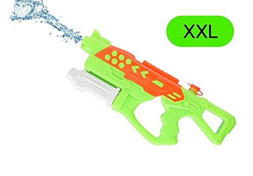 pistola de agua pistola de agua pistola de agua pistola de pulverización XXL pistola de agua TK 7500 con el depósito extra grande y llegar a los niños y adultos (verde)