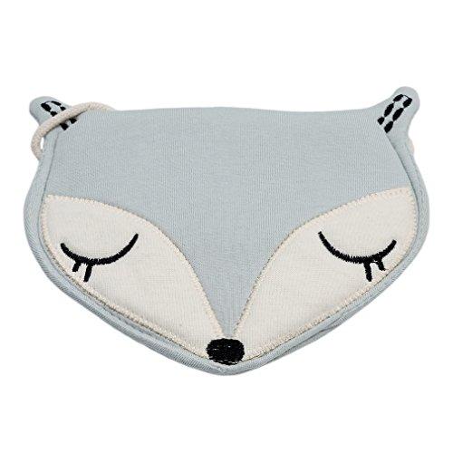 Lalang Nettes Fox Handy-Beutel Schultertasche Handtaschen (Rosa) Blau