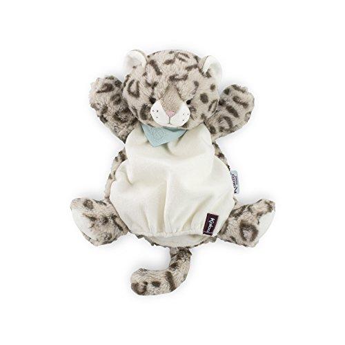 Kaloo - Serie Amiguitos, Pañuelo peluche tipo títere, modelo leopardo Cookie, 30 cm (Juratoys K969319)