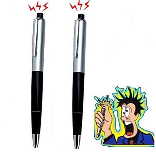 Onsinic 2 pezzi elettrico pen shock con la batteria di divertimento scherzo di burla giocattoli trucco per scherzo
