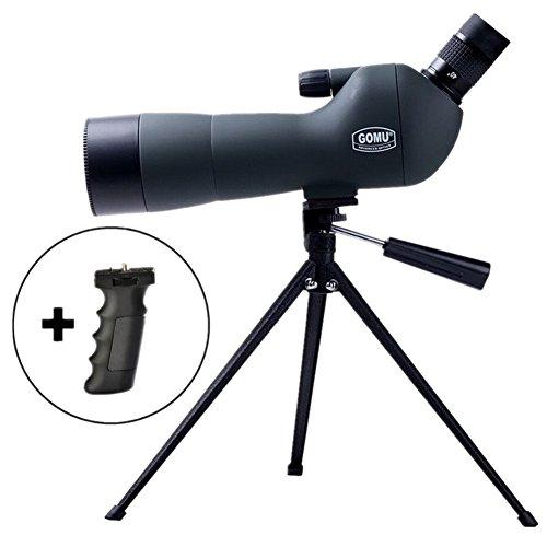 20-60 x 60ae Longue-vue avec 45 Degrés Oculaire,étanche et anti-buée Spotting Télescope Scope pour la chasse d'observation d'oiseaux tireurs avec trépied manuel, trépied de table