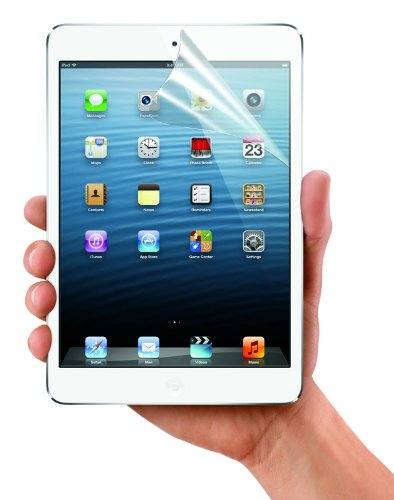 King of Flash 2 x iPad mini Front Screen Protectors Clear Film Protects Screen From Dust Scratches