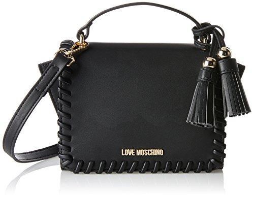 Love Moschino Damen Borsa Calf Pu Nero Baguette, Schwarz (Black), 14 x 23 x 9 cm