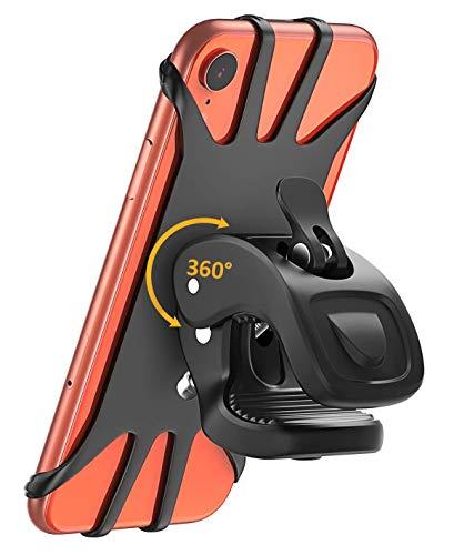 Supporto bici smartphone, cocoda porta cellulare bici, ruotabile a 360° regolabile silicone supporto manubrio moto mtb per iphone xs/xs max/xr/8, samsung galaxy note 9, altro 4.7''-6.5'' smartphone