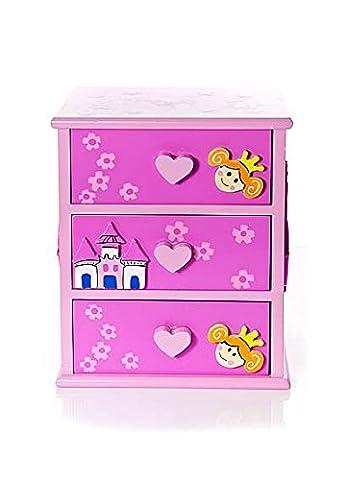 Boite Bijoux Fille - Boîtes coffret à bijoux de princesse rose