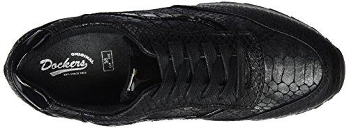 Dockers by Gerli 38ml808-607100, Baskets Basses Femme Noir - Noir