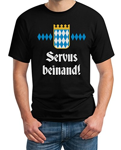 Oktoberfest Wiesn Outfit Herren Shirt - Servus Beinand! -