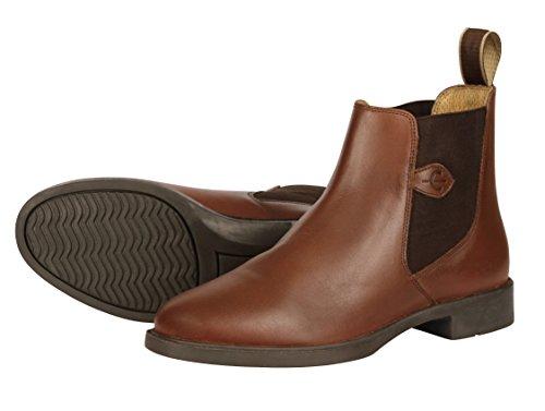 Kerbl  Reitstiefelette Leder Classic Schwarz, Gr. 41, Chaussures d'Equitation adulte mixte Marron classique