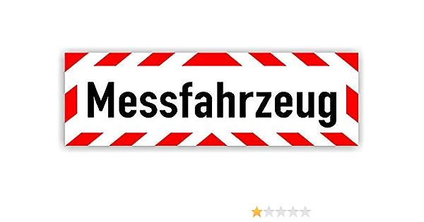 Magnetschild Messfahrzeug Schild Magnetisch Lieferbar In Drei Größen 35 X 11 Cm Bürobedarf Schreibwaren