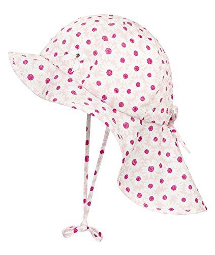 Rosa Kinder-sonnenhut (Döll Mädchen Mütze Sonnenhut mit Nackenschutz 1815007714, Rosa (Pink Lady 2720), 55)