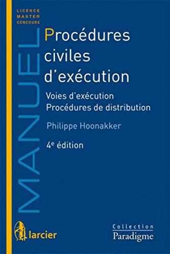 Procédures civiles d'exécution Voies d'exécution - Procédures de distribution
