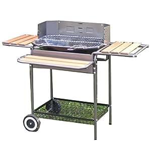 Somagic 386042 Molov Barbecue sur Chariot + 3 Tablettes Acier 58 x 40 cm