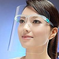 Cooking oil splash oil protective anti-smoke screen face Splatter Screens (Color : Green frame+lens)