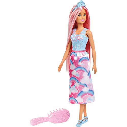Barbie FXR94 - Dreamtopia Zauberhaar Königreich Prinzessin Puppe mit pinken Haaren, Puppen Spielzeug und Puppenzubehör ab 3 ()