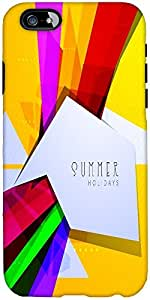 Snoogg Abstract Summer Background Designer Protective Back Case Cover For App...