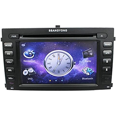 LIKECAR 6,5 pollici auto GPS in-dash DVD Player Radio per Ssangyong Rexton II navigazione stereo audio video Multimedia AUX iPod MP3 Bluetooth Dual Zone RDS FM AM Touch Screen - Bal Uscite