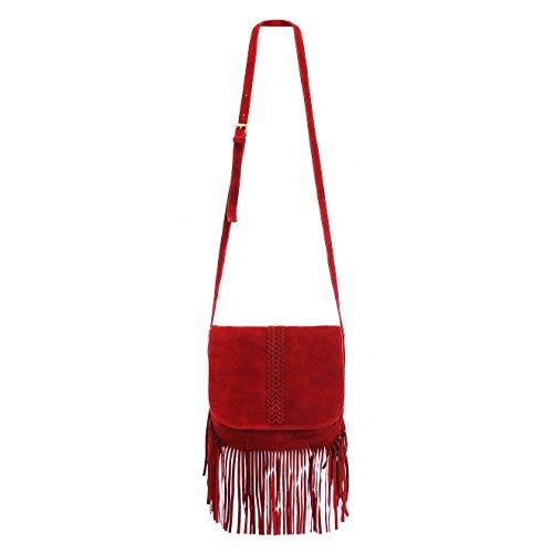 ZLYC - Vintage Damen, Rot (rot), Medium -