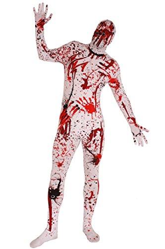 Suit Skin Kostüm Skelett Erwachsene Für - ILOVEFANCYDRESS Bloody Skin Suit Overkill Kostüm Halloween Kostüm