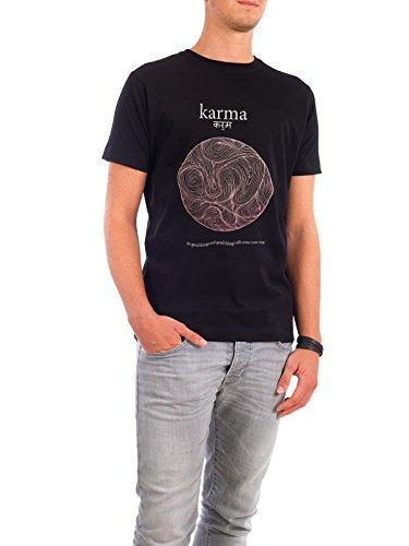 """Design T-Shirt Männer Continental Cotton """"Karma"""" - stylisches Shirt Typografie von Boris Draschoff Schwarz"""