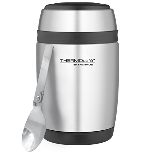 41icl1RtGxL. SS500  - Thermos Curved Stainless Steel Food Flask with Spoon, 400 ml