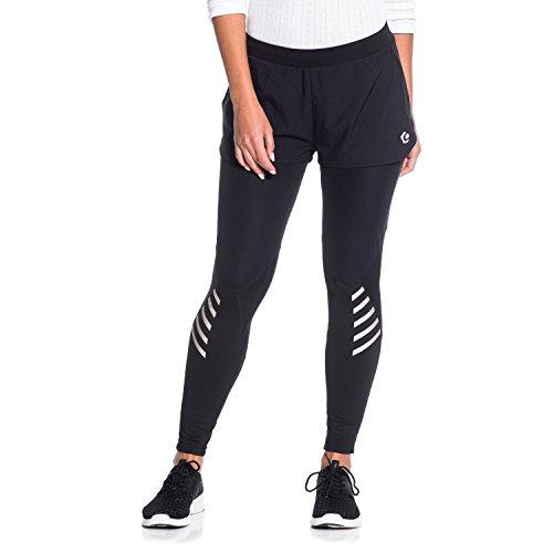 Gregster PRO Damen Laufhose in schwarz | enge und lange Lauftight mit direkt verbundener Shorts | Sporthose perfekt geeignet zum Laufen...