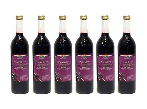 Schwarzer Johannisbeersaft vom Bleichhof - 100% Direktsaft, naturrein und vegan. OHNE Zusatzstoffe und Zuckerzusatz. 6er Pack (6 x 0,72 l) - Schwarz Saft
