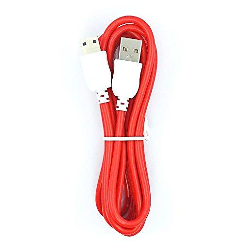 thanly 1m 1m cavo di ricarica e sincronizzazione dati USB per Nabi JR e Nabi XD Kid Compresse [Rosso]
