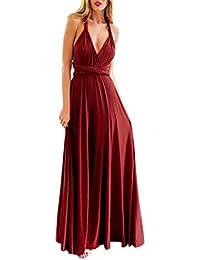 Kinikiss Women Elegant Evening Prom Party Wedding Dress Polyester High Waist Convertible Multiway Wrap Bridesmaid Formal Long Maxi…