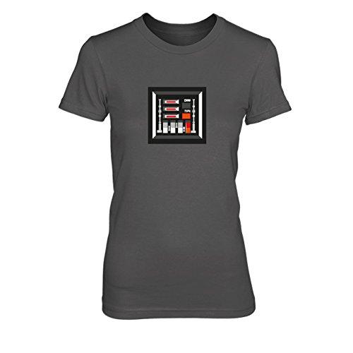 Vader Chest - Damen T-Shirt Grau