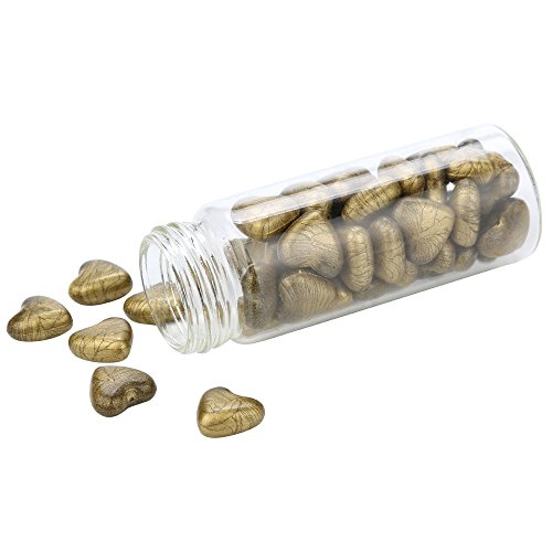 1 Flasche Herz Geformt Heart Shape Retro Vintage Manuskript Seal Seal Wachs Stick Solid Partikel für Stempel (Armeegrün) (Wachs-flaschen)