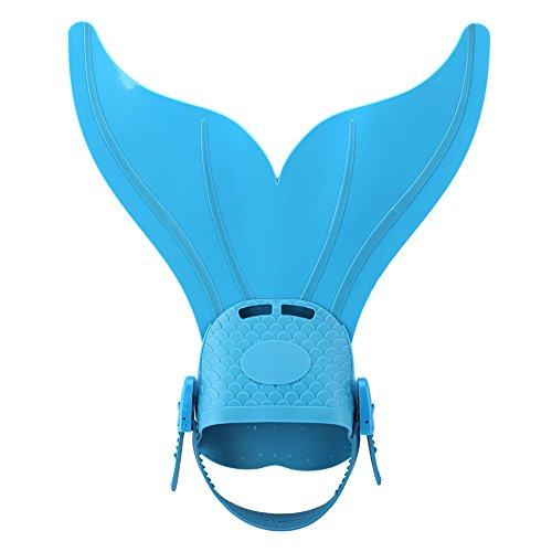 Einstellbare Meerjungfrau Schwimmflosse Einzel Für Tauchen Und Schwimmen ( Farbe : Hellblau )