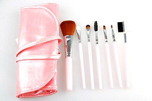 Cexin rose professionel 7 pinceaux de maquillage exquis avec trousse