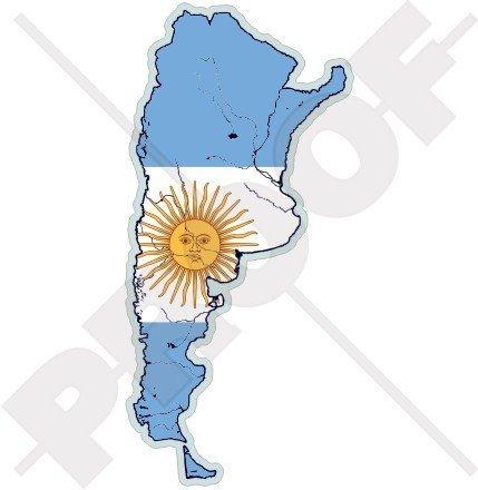 ARGENTINIEN Argentinische Karte-Flagge 138mm Auto & Motorrad Aufkleber, Vinyl Sticker