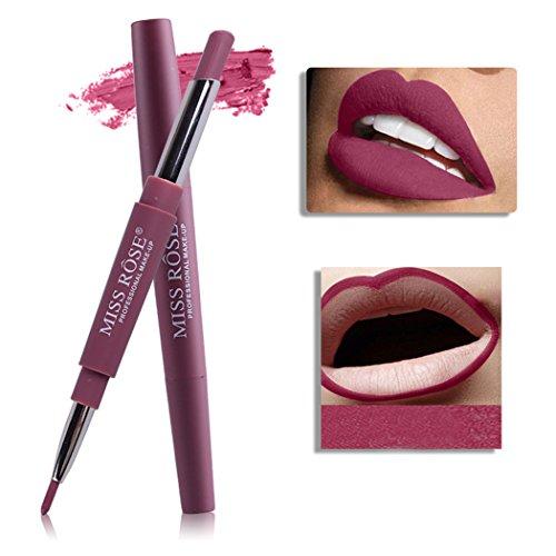 Oplon 8 Farbe Lippenstifte Lipliner Matt Double-End Multifunktions Dauerhafte Wasserdicht Lip Liner...