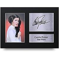 HWC Trading Carrie Fisher Geschenke Unterzeichneten A4 Gedrucktes Autogramm Star Wars Princess Leia Druck-Foto-Bilderanzeige