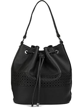 styleBREAKER Bucket Bag Beuteltasche mit Cutout Muster, Schultertasche, Umhängetasche, Tasche, Damen 02012196
