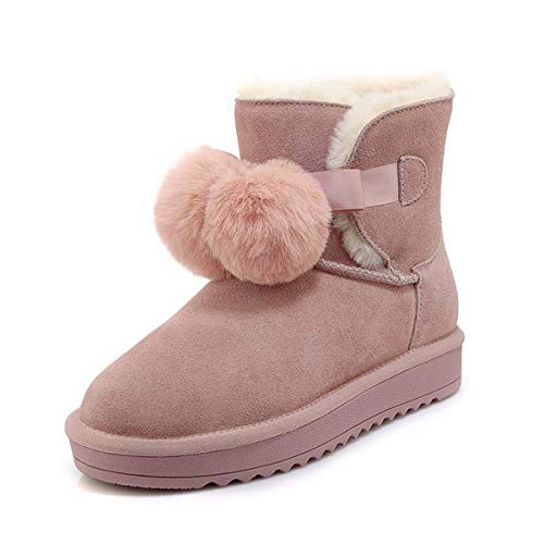 Hbdlh scarpe da donna/l'inverno gli stivali di pelo velvet antiskid stivali da neve breve tubo papillon studente corti stivali.trentotto rosa