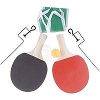 F Fityle 2 x Raqueta de Ping-Pong con Mango de Madera y Pelotas de Tenis de Mesa para Principiantes - 1 Bola Amarilla + 2 Bolas Blancas, 250x150x5mm