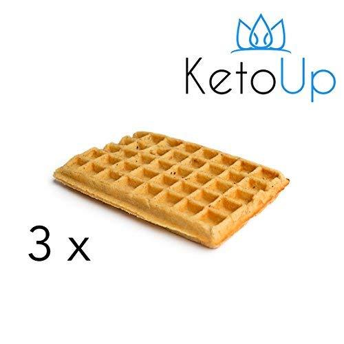 KetoUp: 3 LOW CARB WAFFELN - Ketogene und Low Carb Ernährung | Gesunde Ernährung | enthält maximal 3 % Kohlenhydrate | 120 Gramm | Versandkostenfreie Lieferung in Deutschland ab Bestellwert von 25€ (Frische Diät Lieferung)