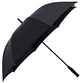 Artbisons Dual Layer Golf Umbrella 62 inches Extra Large Oversize Automatic Open Strong Windproof Waterproof Umbrella (Black, 62