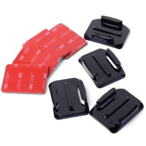 Gard Casco Kit Di Accessori Set di 4x Supporti Curvi + 3M Superficie Adesivo Adesiva adesivo supporti GoPro GoPro Hero 1 2 3 3 + 4 OS86