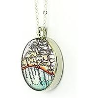 1893Mappa Brighton Vintage collana Regno Unito Rotondo Ciondolo in argento regalo Forever Love Per Madre
