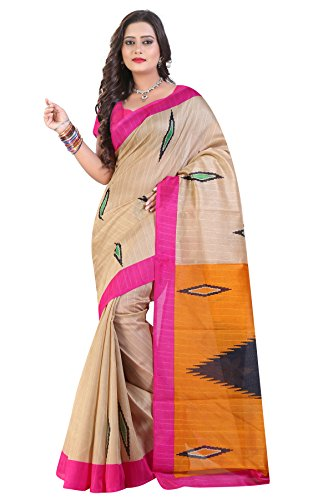 Glory Sarees Cotton Saree (Sarees3_Beige And Orange)