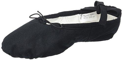 Sansha 3c Silhouette Chaussures de Danse Demi-Pointes Femme Noir