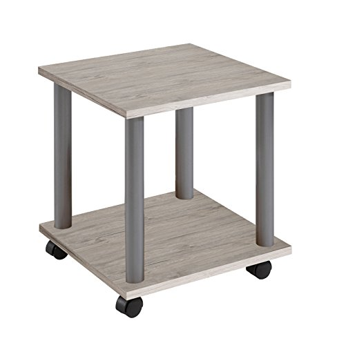 FMD Möbel – Mesa auxiliar con ruedas, madera, madera, Sand Oak ...