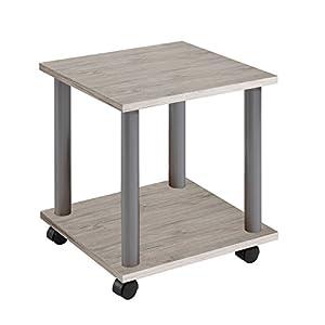 FMD Möbel Jango 11 Beistelltisch auf Rollen, Holz, sandeiche, 40 x 40 x 44.5 cm